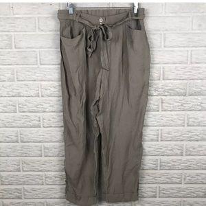 Chico's Paper bag Waist Tie Belt Pants
